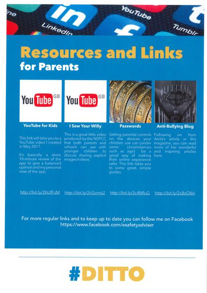 Resources & Links for Parents