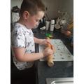 Making dough for our dough disco!
