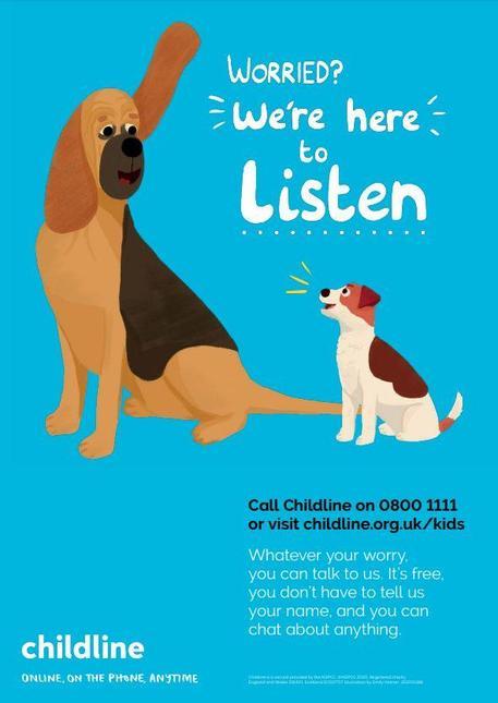 We are here to listen.  Call Childline on 0800 1111 or visit childline.org.uk/kids