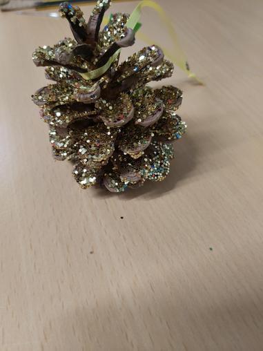 glitter fir cones