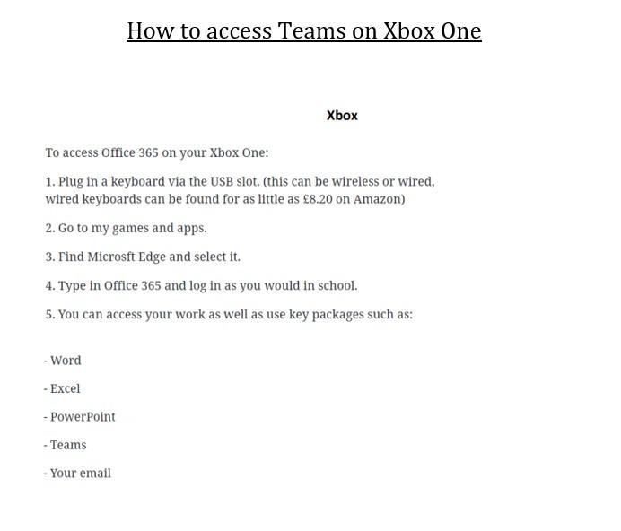 How to view Teams on your Xbox