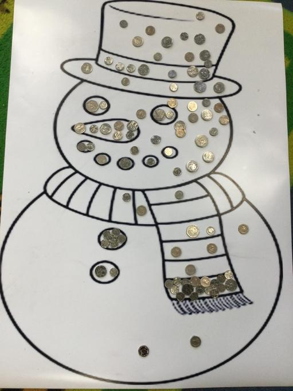 Year R Sparkly Snowman