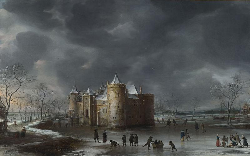 The Castle of Muiden in the Winter