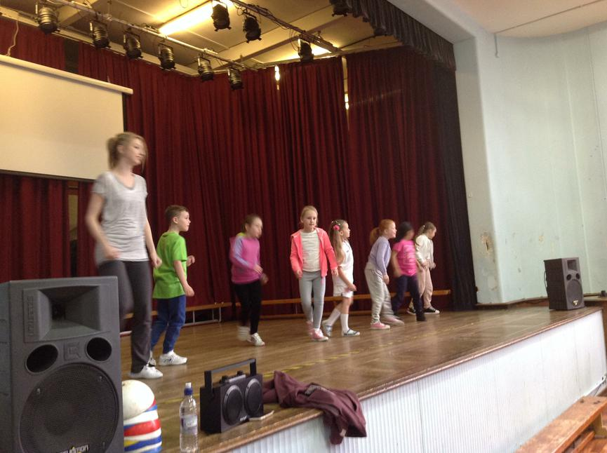 Miss Ellgood in charge of KS1 dance routines!