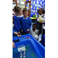 We learnt about buoyancy and balance.