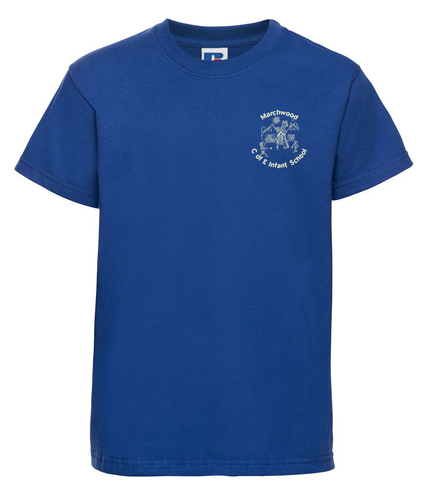 Royal Blue T-Shirt (logo optional)