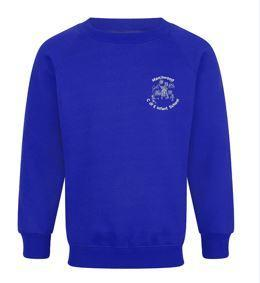 Royal Blue Sweatshirt - available with logo