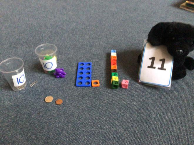 Rolo has found lots of different ways to show the number 11