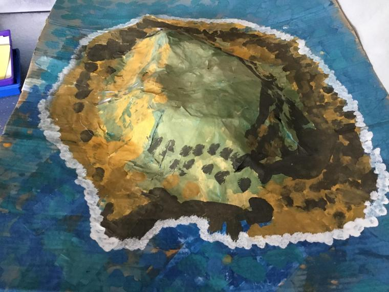 A 3D island made by some of our older children