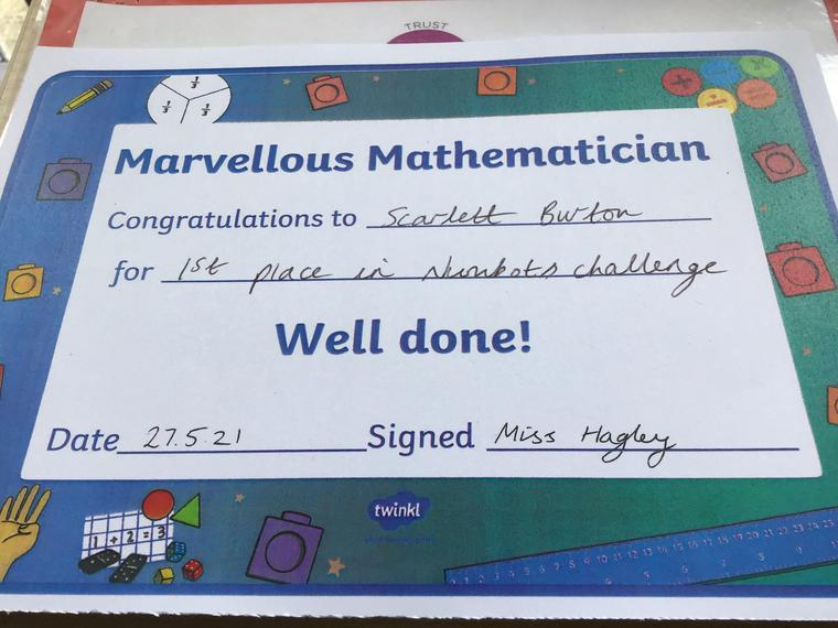 Well done Scarlett!