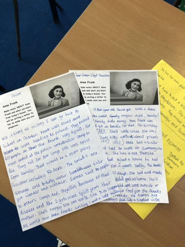 Anne Frank - Oscar's notes!