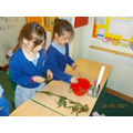 We gathered flowers, herbs and citrus fruit