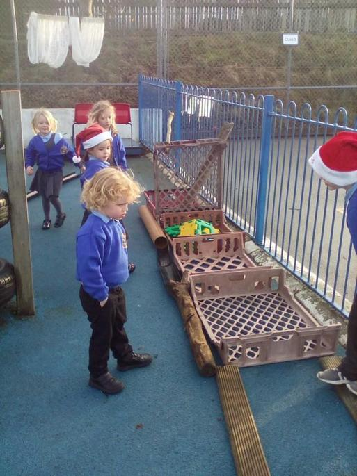 We made a sleigh for Father Christmas