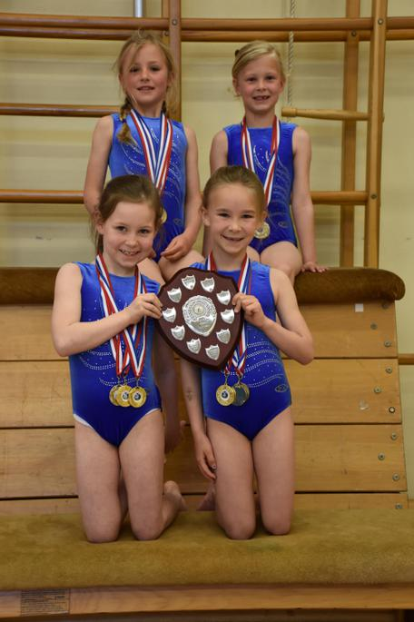 Under 7 Girls Gold Medallists