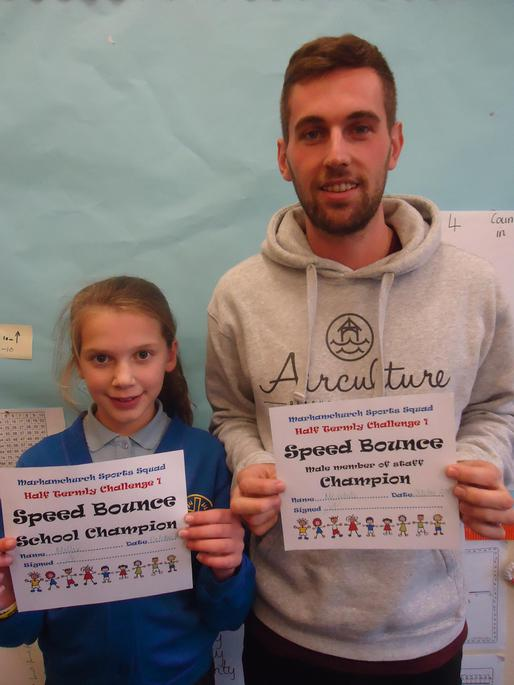 Millie and Mr White - Speed Bounce winners