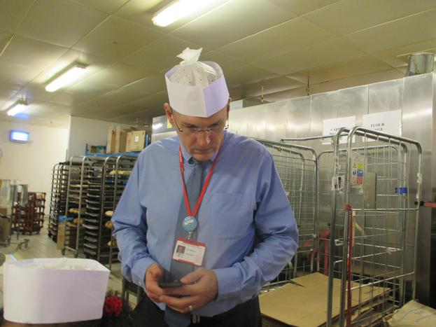 Look at Mr Redgrave helping in the bakery!