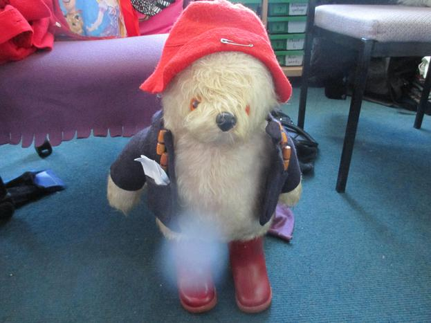 Kyan brought in this wonderful Paddington Bear
