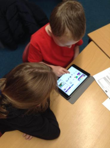 The children have been learning how to log into purple mash.