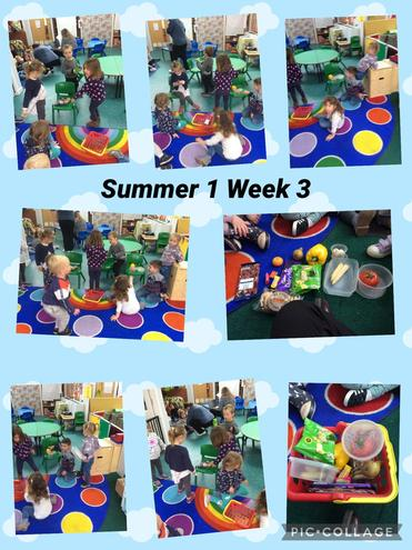 The children were able to sort the healthy food and unhealthy food into two piles.