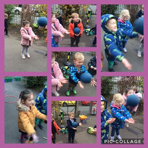 Amazing throwing and catching skills during continuous provision!