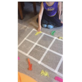 Practising doubling facts on a HUGE 10 frame