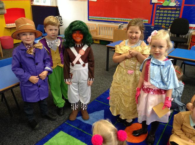 The children dressed up in their favourite Roald Dhal costume and talked about who their c