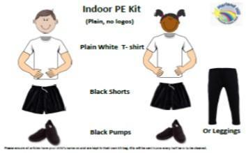 PE lessons are outdoor so please send your child into school in their outdoor kit