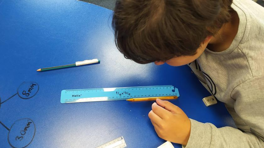 We are learning about measuring length and perimeter in maths