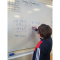 What numbers are missing to solve our sum? What skills did you use to work this out?