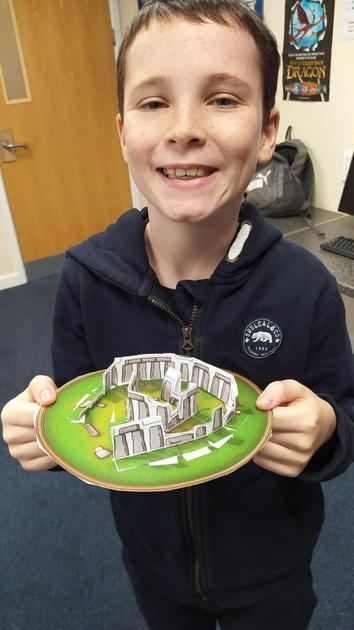 Making models of Stonehenge as part of our topic on the British Isles