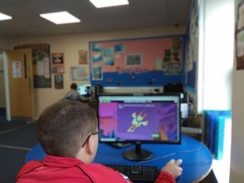 Using our classroom computers in English lessons