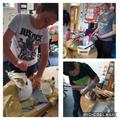 Decorating our Roman helmets!