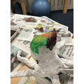 Painting and mixing colours