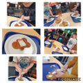 Making and decorating our gingerbread men