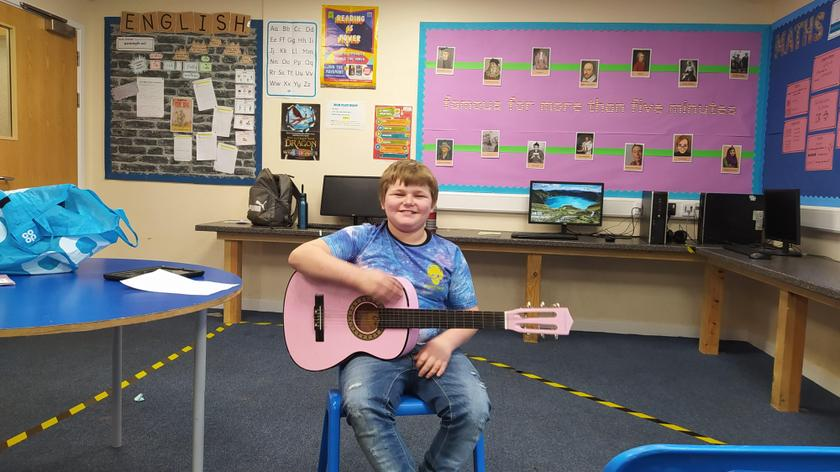 We have weekly music lessons, but some of us have been putting in some extra practice