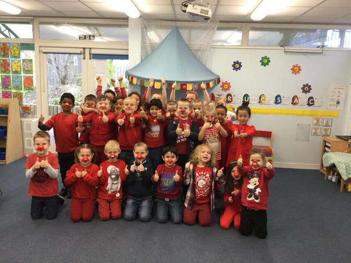 Here we are supporting Red Nose Day!