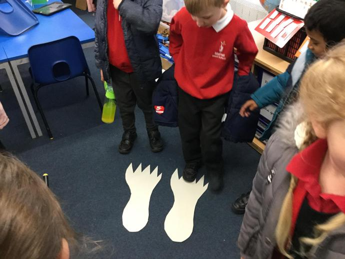There were some huge footprints.
