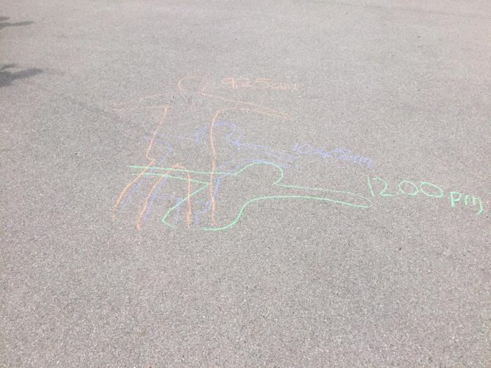 We discovered that the shadow moved and got shorter throughout the day.