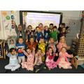 Dressed in our pyjamas!
