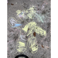 Drawing Pudsey with Chalk