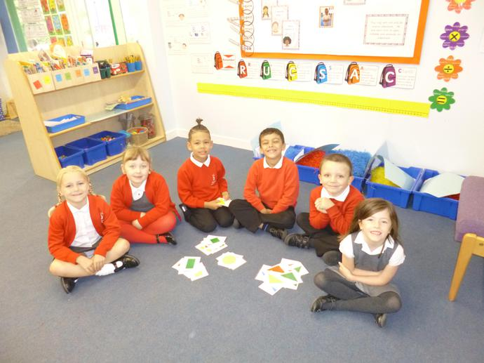 finding 2D shapes, sorting and describing