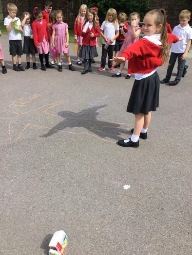 Observing the passage of the sun through the day by monitoring our shadow.