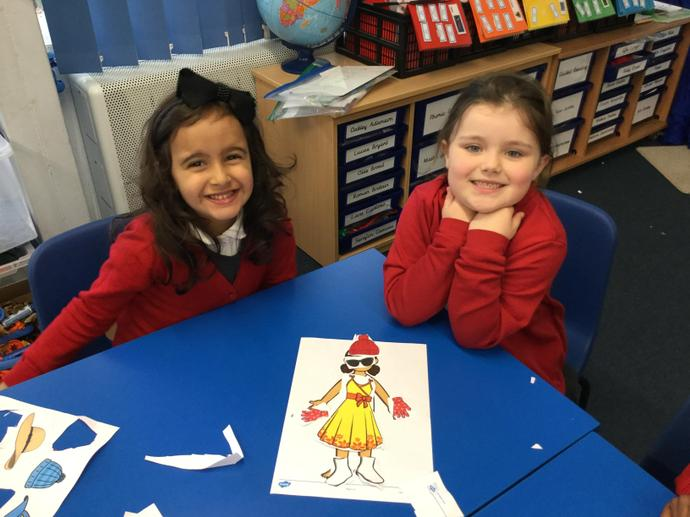 We created some special outfits in our RE lesson.