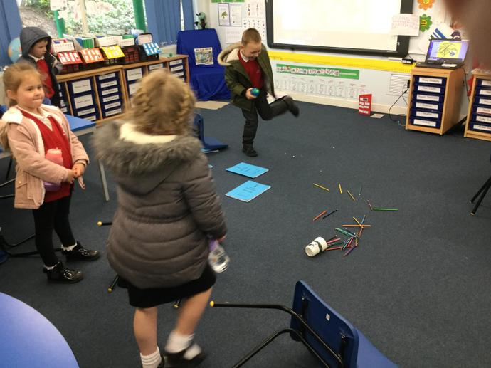 We came back to a messy classroom after break!