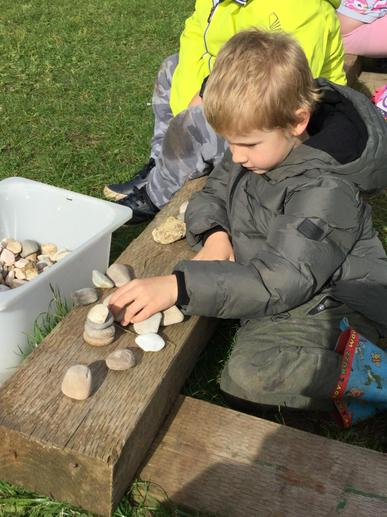 Building a stone tower