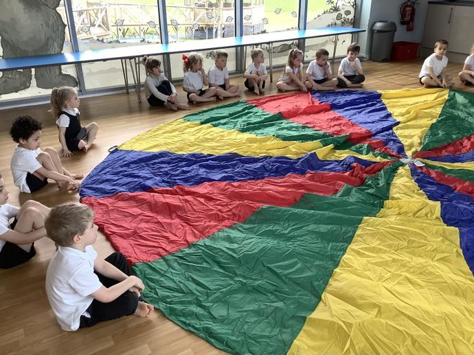 Parachute PE lesson