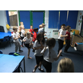 We worked very hard and our hearts were beating very fast!