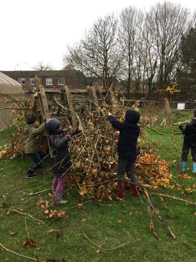 Building a den together