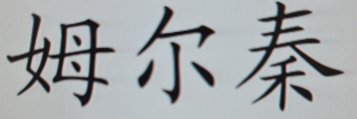 Mr Chin in Chinese writing.