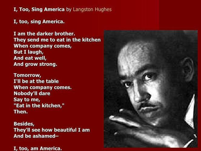 "We imitated ""I, Too"" by Langston Hughes (BHM)"